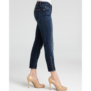 7FAM The Cropped Skinny Ankle Zip Jeans Size 27